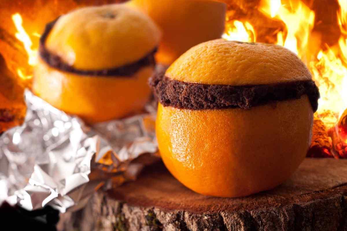 Gâteau au chocolat cuit dans une orange
