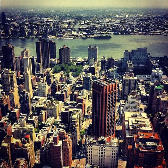 Hudson river et Manhattan (vus du haut de l'Empire State Building)