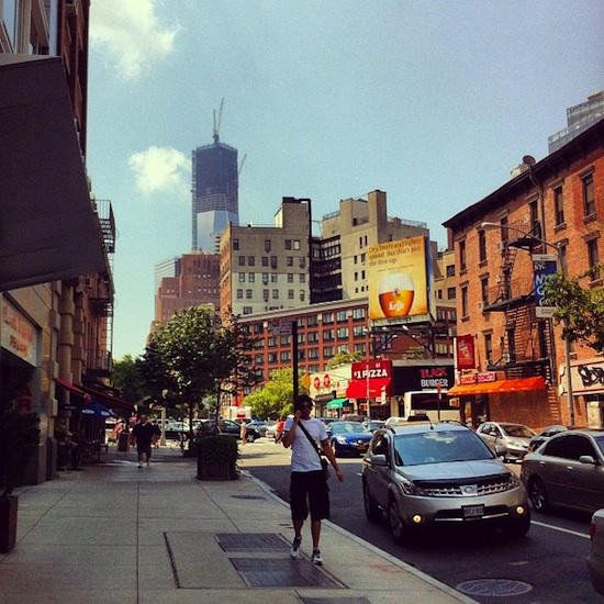 La Freedom Tower (ou one world trade center) vie depuis ChinaTown New-york