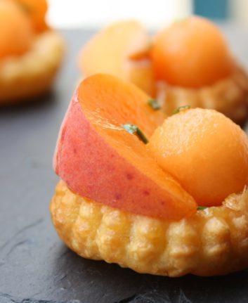 Tarte abricot melon miel