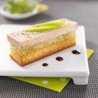 Toasts de foie gras à la pomme Granny Smith