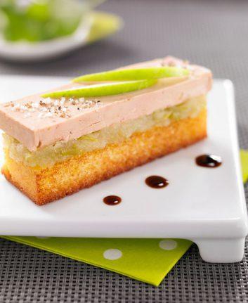 Toasts de foie gras à la pomme Granny Smith