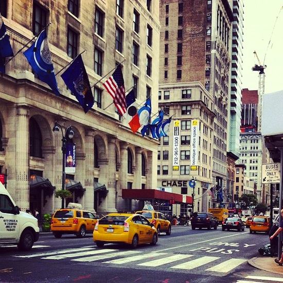 Yellow cabs - Fifth Avenue - New york