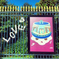JOFO à l'honneur sur les grilles du Jardin Public à #Bordeaux ; j'adore !