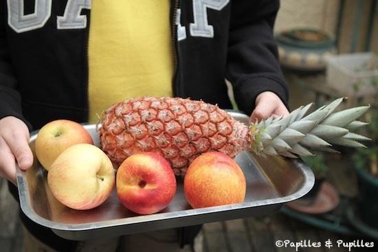 Ananas, pommes, nectarines
