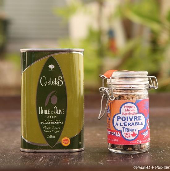 Huile d'olive AOP des Baux de Provence et Poivre à l'érable