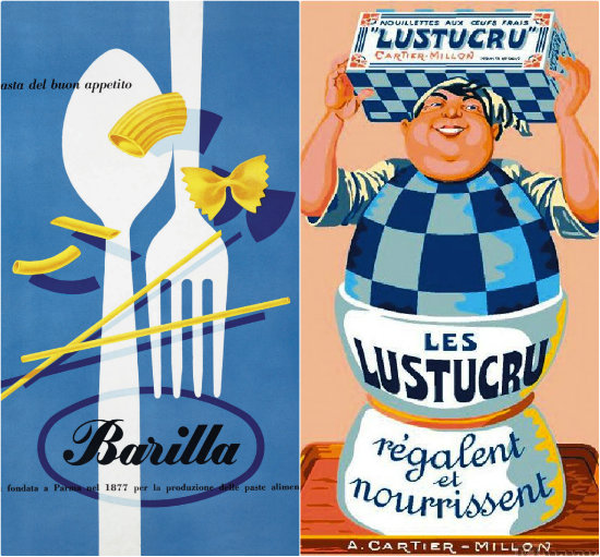 Pâtes - Affiches vintage