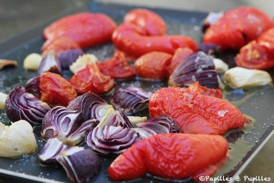 Poivrons et oignons rôtis