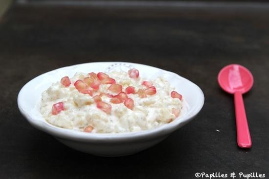 Riz au lait et aux graines de grenade