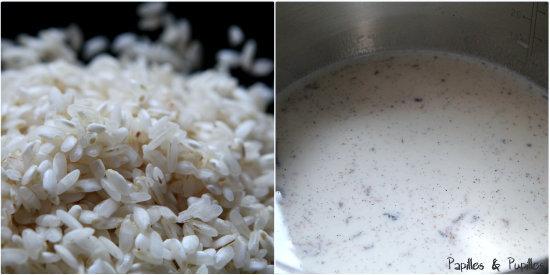 Riz et lait vanillé