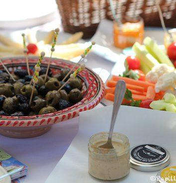 Tartinades et olives