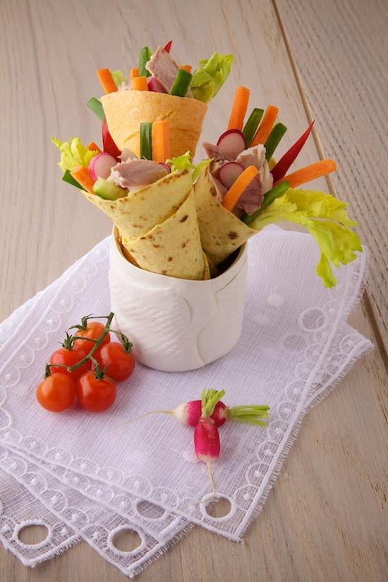 Wraps Savoureux de légumes d'été au thon
