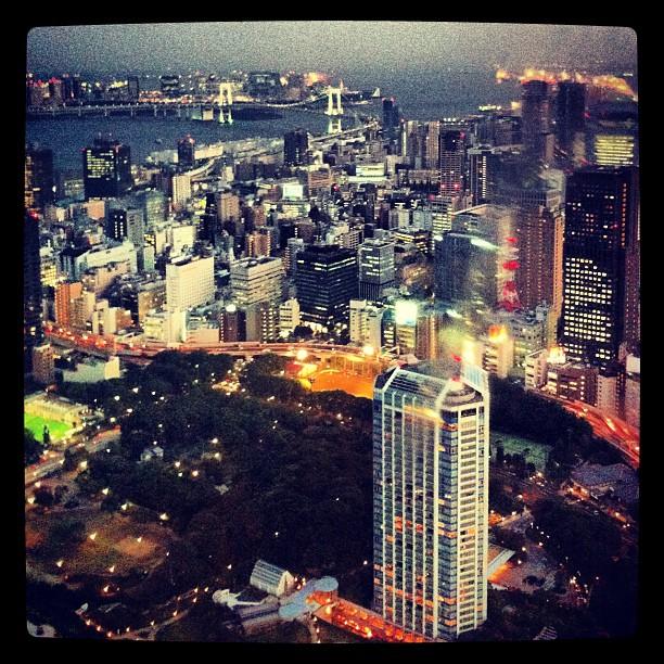 Tokyo - photo prise du haut de la Tokyo Tower
