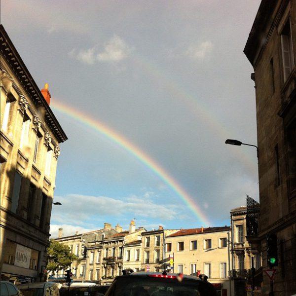 Arc en ciel #bordeaux #sansFiltre #rainbow