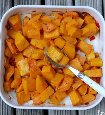 Courge butternut rotie au four