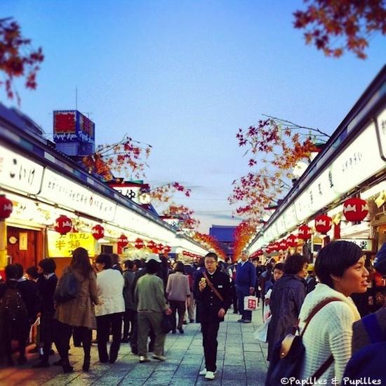 En arrivant sur le Temple de Senso-Ji