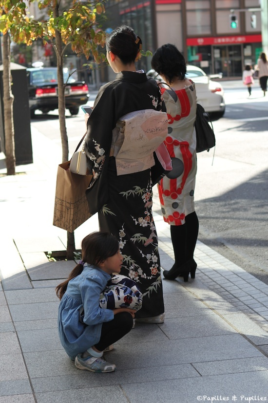 Japonaise en costume traditionnel, Ginza, Tokyo
