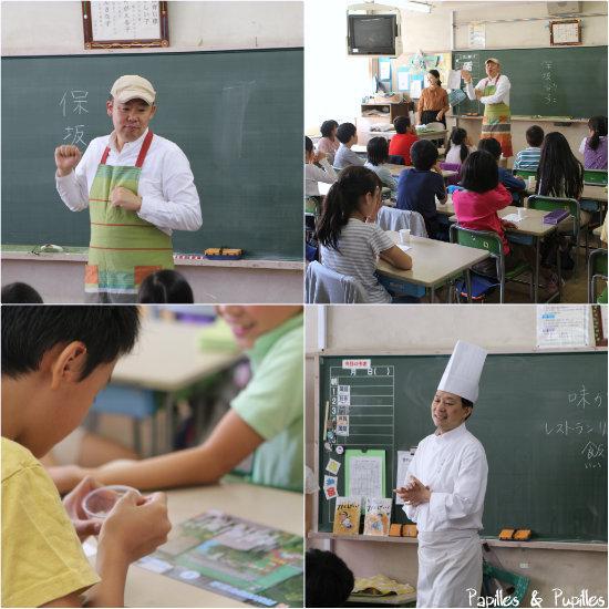 Leçon de goût dans une école japonaise