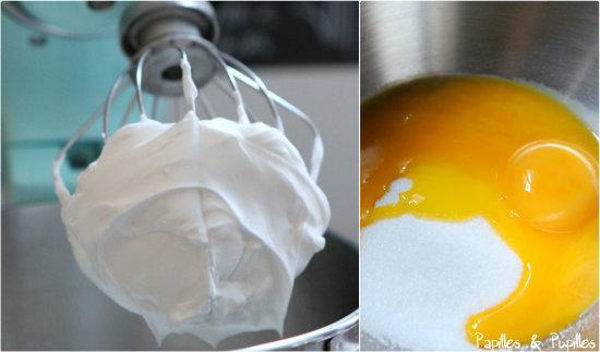 Mélange blanc sucre et mélange jaune sucre