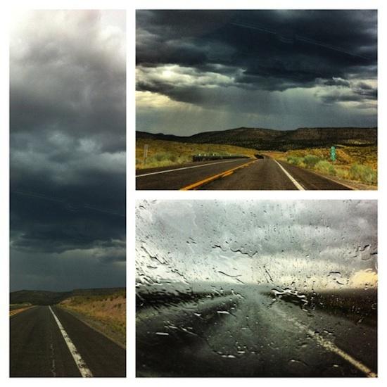 Orage sur la route 66 - Arizona