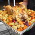 Poulet aux pommes de terre et patates douces, sauce Ximitxurri