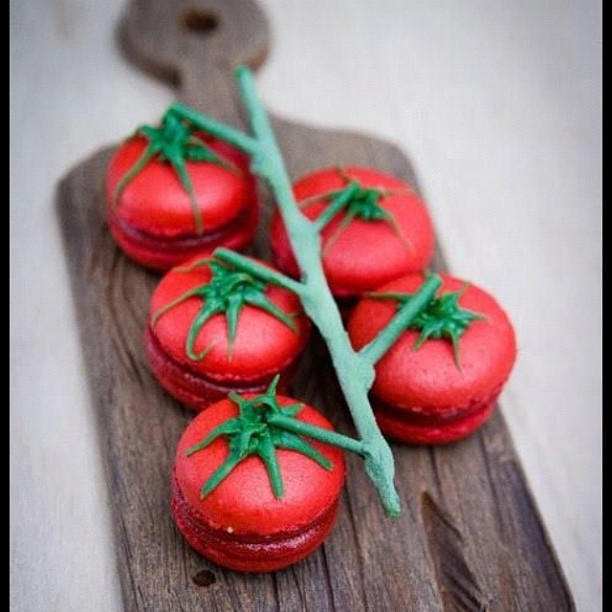 Tomates grappes ? Non, macarons