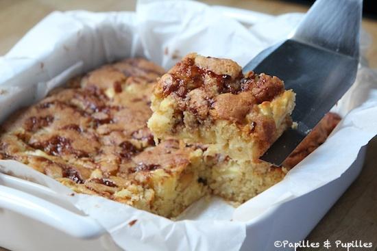 Brownies pommes caramel Noix de Macadamia
