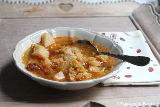 Caldo Verde - Soupe au chou et au chorizo