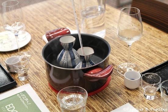 Dégustation de saké chaud