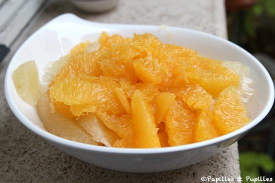 Suprêmes d'oranges et de pamplemousse chinois