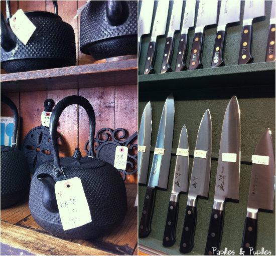 Des théières, des couteaux
