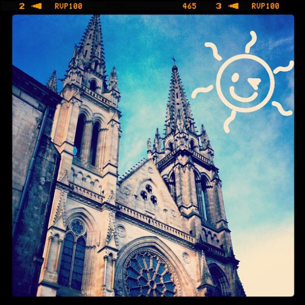 Blue sky today in Bordeaux