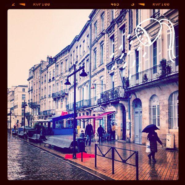 It's raining today on Bordeaux, France