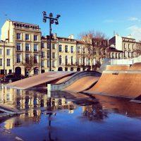 Skate parc, Quai des Chartrons, Bordeaux - France