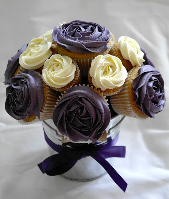 Cup Cakes Forme Rose