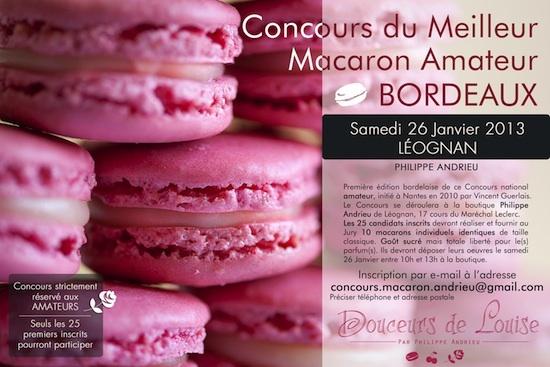 Concours du meilleur macaron amateur Bordeaux