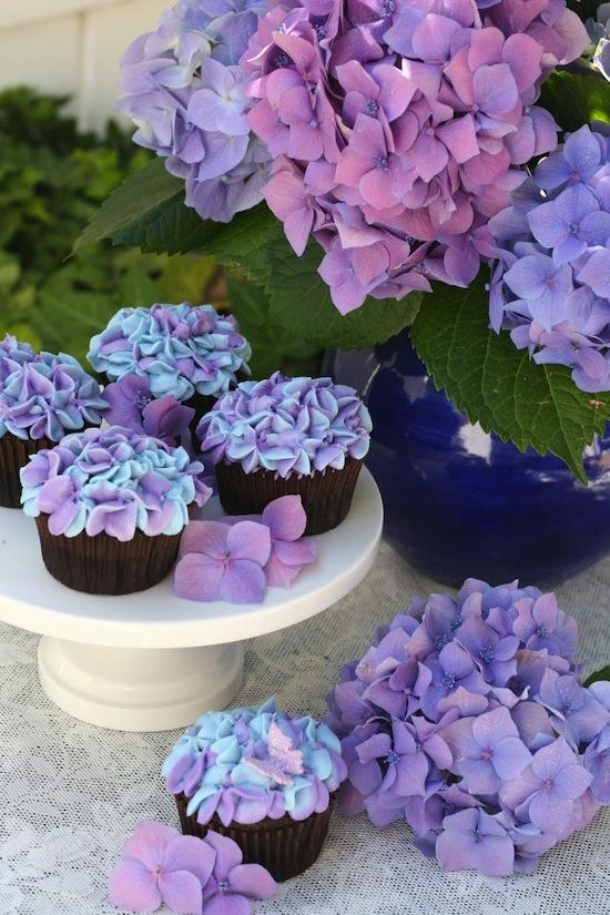 Cupcakes Hortensia