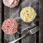 Cupcakes buttercream Rose
