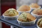 Muffins yuzu pavot après cuisson