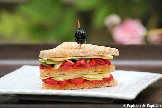 Sandwich poivrons grillés, courgette et Leerdammer