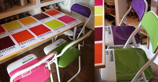 Tables et chaises Pantone - Gorgelous design
