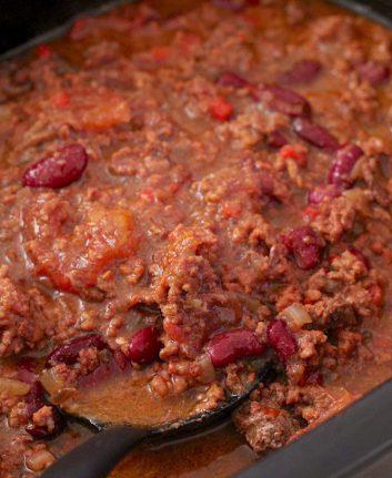 Chili con carne à la mijoteuse