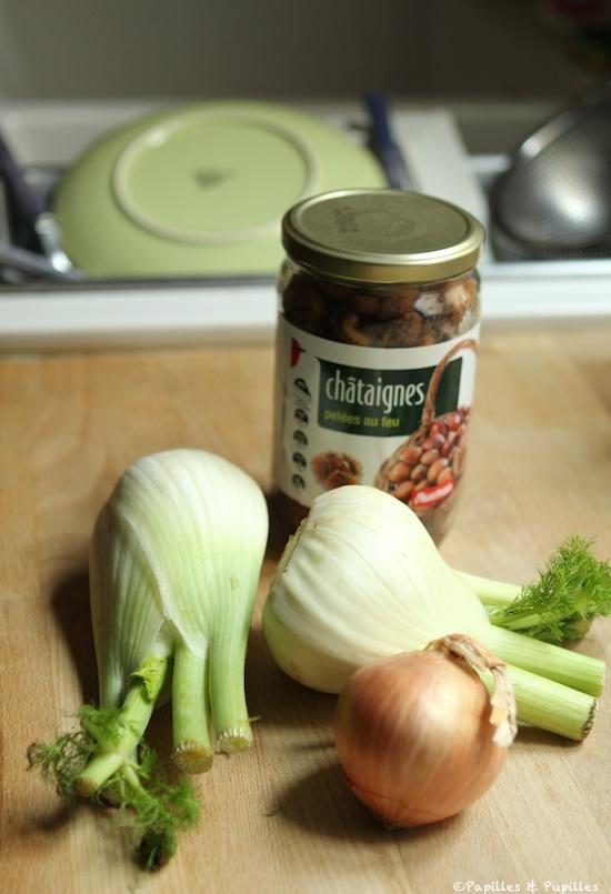 Fenouils, oignon et châtaignes