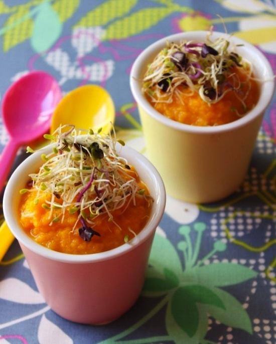 Mousse de carottes à l'orange et au cumin