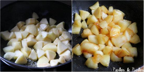 Pommes avant et après cuisson