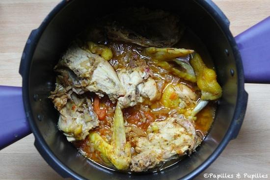 Poulet au curry au Cookeo après cuisson