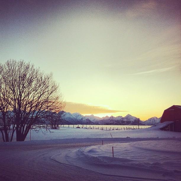 Lever de soleil - Bøde, Norvège