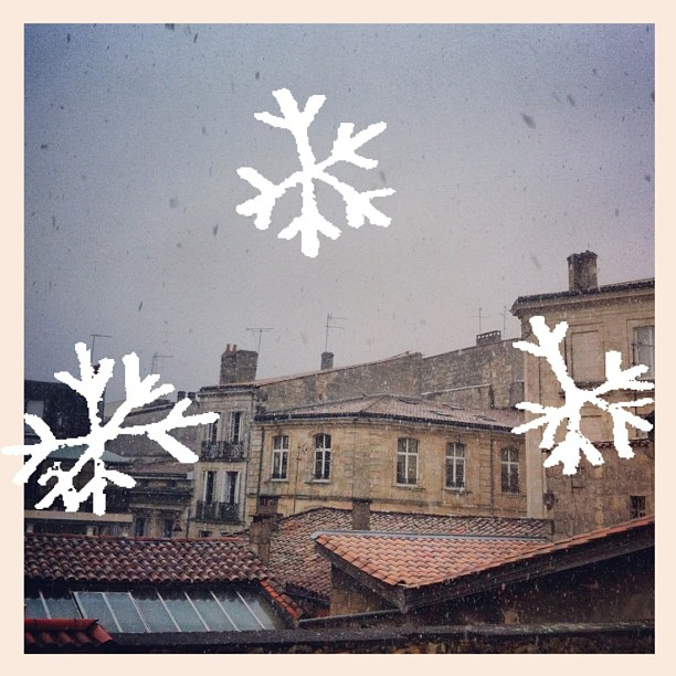 Il neige #Bordeaux