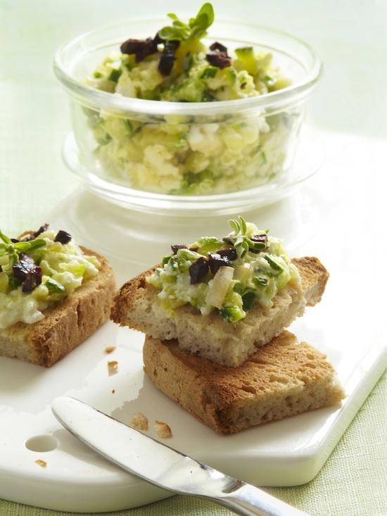 Caviar de courgettes aux saveurs grecques sans gluten © MarqueRepère-FrancescaMantovani