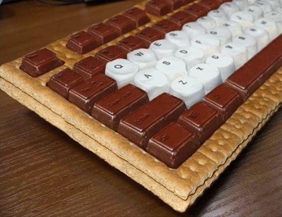 Clavier chocolaté